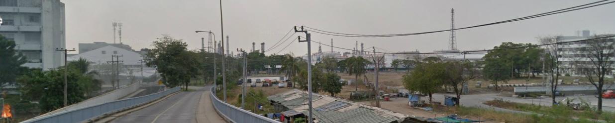 โรงกลั่นน้ำมันบางจาก (credit : Google street view)