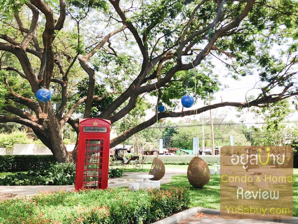 ด้านหน้าทำเป็นสวนเล็กๆ เอาไว้สำหรับจัดงานอีเว้นท์ได้ด้วย ต้นไม้ต้นนี้สวยจริงๆนะครับ ผมชอบมาก