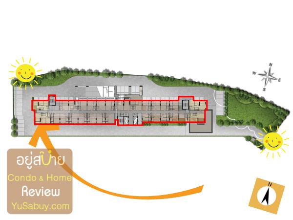 ผังโครงการ คอนโดบ้านเคียงฟ้า หัวหิน