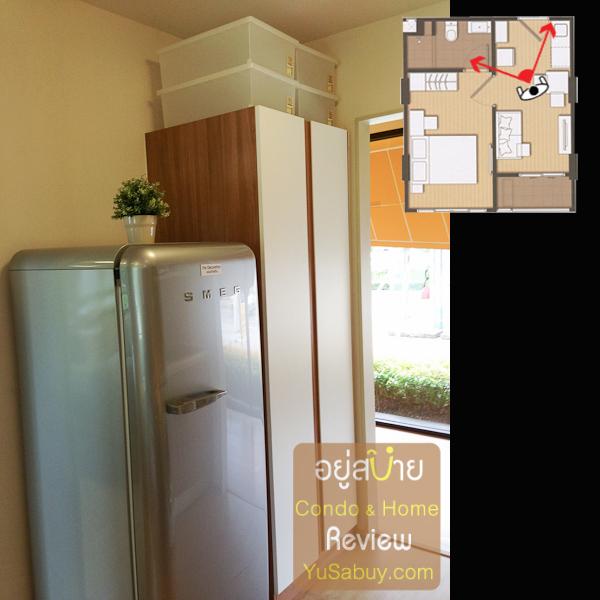 """ด้านขวาเป็นตู้เก็บของที่ให้มาด้วย ส่วนตู้เย็น SMEG นั่นไม่ได้ให้นะครับ เฉพาะราคาก็ 80,000 แล้ว ^^"""""""