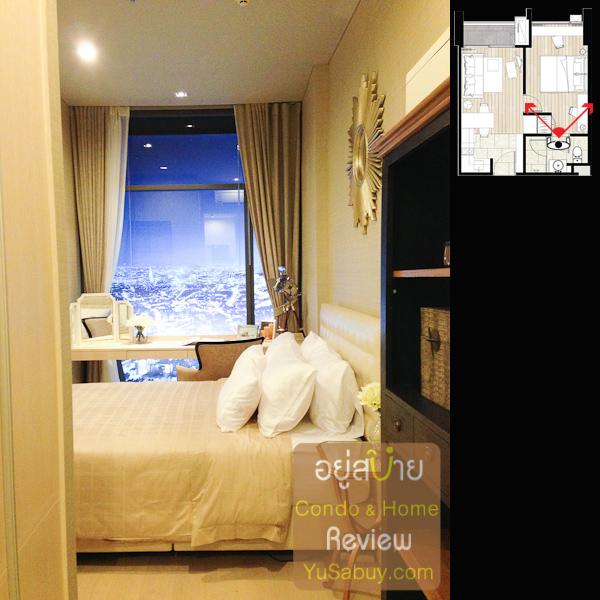 ตรงนี้มองจากในห้องน้ำออกมาตรงห้องนอนครับ มี walk-in closet ให้ 2 ด้าน