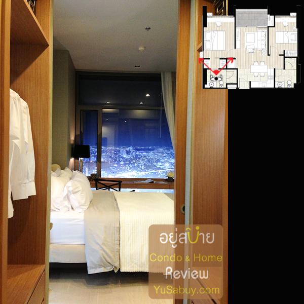 เข้ามาดูในห้องนอนใหญ่กันบ้าง ตรงนี้มองออกมาจากห้องน้ำ