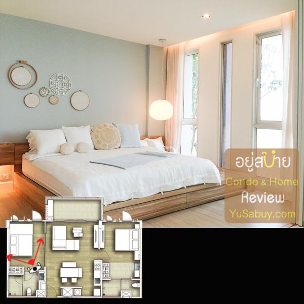 ห้องนอนเล็ก จริงๆด้วยขนาดก็เรียกห้องนอนใหญ่ห้องที่สองได้ครับ พวกผนังส่วนทึบที่เห็นในรูปอย่างที่เล่าไปว่าถ้าเป็นชั้น 2 จะเปิดเป็นกระจกเต็มๆมากขึ้นครับ