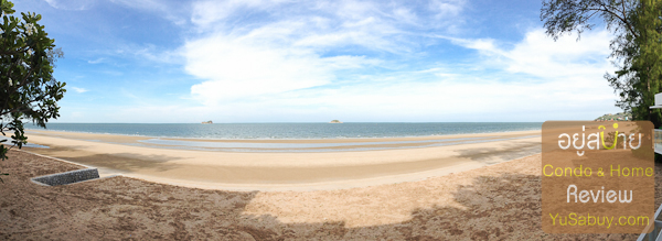 มอง panorama จากบนหาดทรายหน้าโครงการ