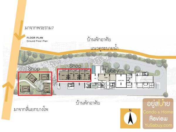 ผังโครงการคอนโด The Tree Bangpo Station (เดอะทรี บางโพ สเตชั่น)
