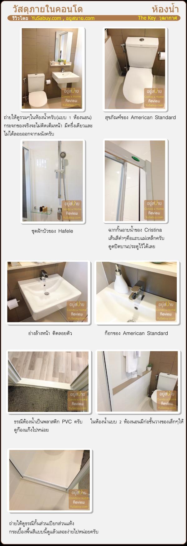 รีวิววัสดุห้องน้ำ The Key BTS Wutthakat (เดอะ คีย์ บีทีเอส วุฒากาศ)