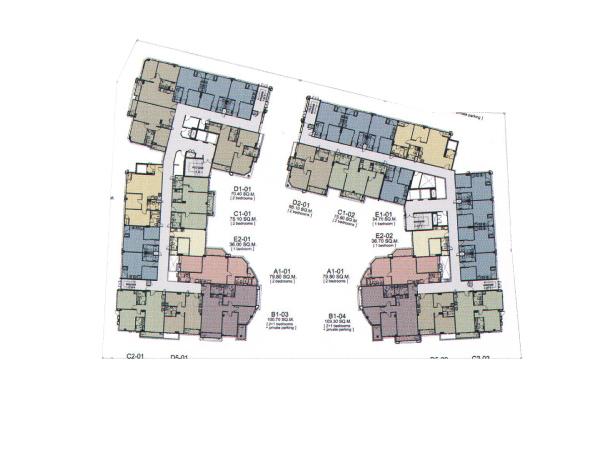 Floor Plan Siamese ไซมิส นางลิ้นจี่ ชั้น 2-6