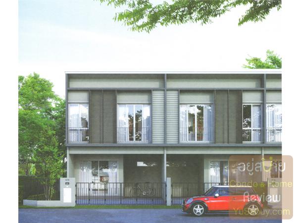 หน้าตาบ้าน Pruksa Lite Lox (พฤกษาไลท์ ล็อกซ์) แบบ 1 ที่จอดรถ