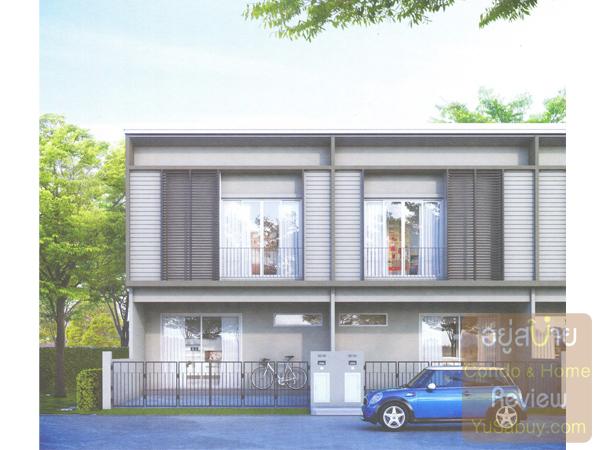 หน้าตาบ้าน Pruksa Lite Lox (พฤกษาไลท์ ล็อกซ์) แบบ 2 ที่จอดรถ