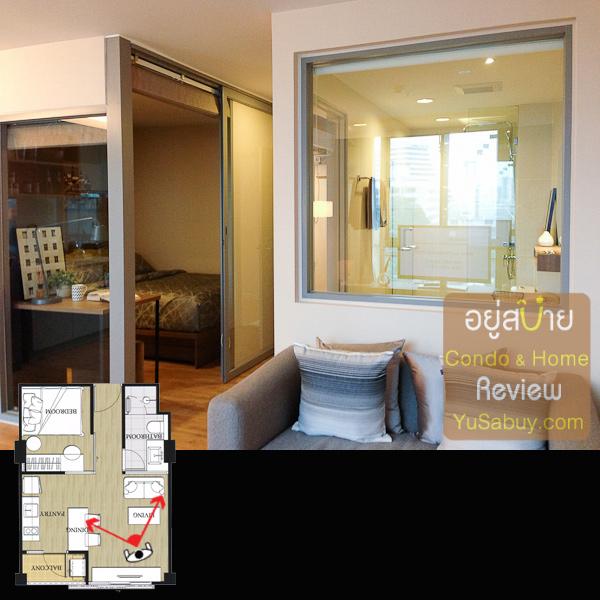 หน้าต่างทางขวานี่ทะลุไปถึงห้องน้ำได้เลย ส่วนทางซ้ายคือห้้องนอน