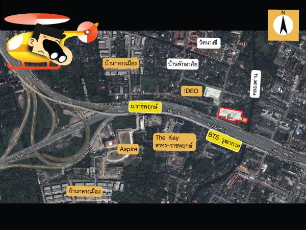 แผนที่ของสภาพแวดล้อมรอบๆคอนโด คอนโด The Key BTS Wutthakat (เดอะ คีย์ บีทีเอส วุฒากาศ)