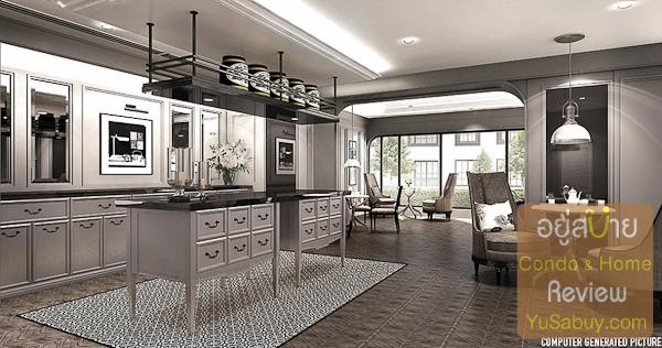 ห้องพักผ่อนส่วนกลางครับ โครงการเอามาตั้งชื่อใหม่เป็น Gimmick ว่า Tea Room คงวางคอนเซ็ปให้มานั่งจิบชายามบ่ายกัน
