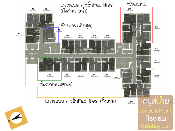 Typical Floor Plan Noble Revolve Ratchada2