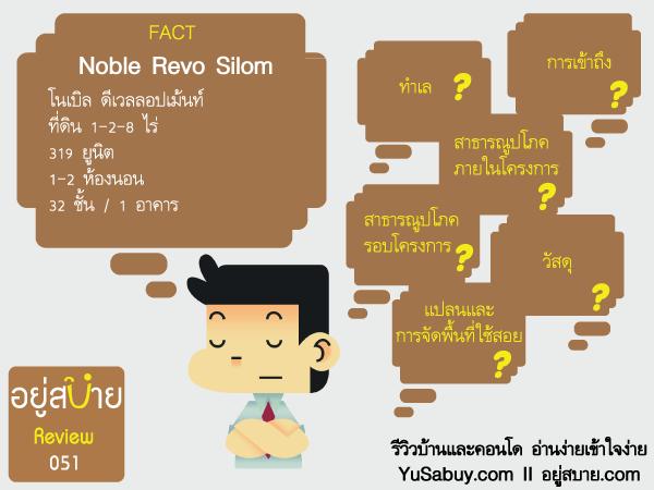 ข้อมูลโครงการคอนโด Noble Revo Silom โนเบิล รีโว สีลม