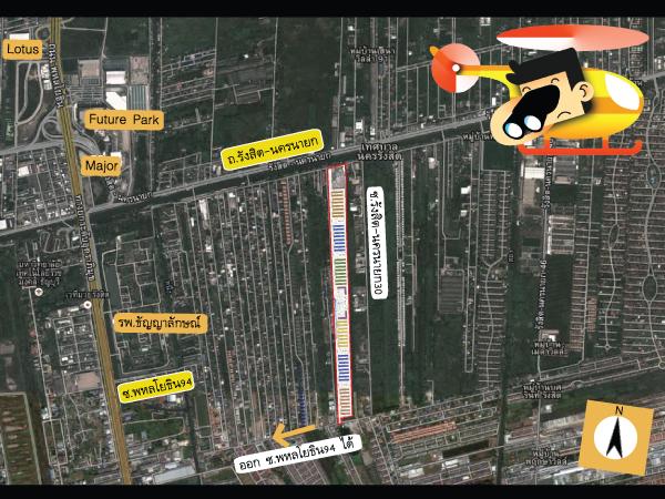 แผนที่ของสภาพแวดล้อมรอบๆคอนโด Lumpini Township (ลุมพินี ทาวน์ชิป รังสิตขคลอง1)