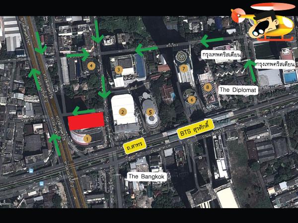 แผนที่และตำแหน่งที่ตั้งโครงการคอนโด Noble Revo Silom (โนเบิล รีโว สีลม)