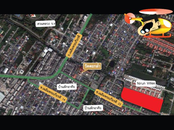 แผนที่และตำแหน่งที่ตั้งโครงการบ้านเดี่ยว Casa Ville Sukhumvit103 (คาซ่า วิลล์ สุขุมวิท103)