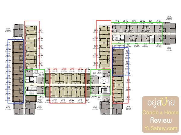 แปลนคอนโด Ideo Mobi Charun-Interchange (ไอดีโอ โมบิ จรัญ-อินเตอร์เชนจ์) ชั้น 7-20