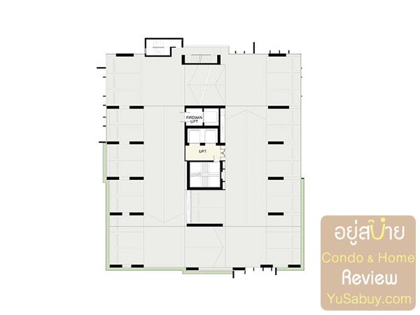 Floor Plan คอนโด Ideo Q ราชเทวี ชั้นที่จอดรถ