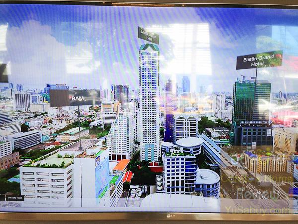 มาดูมุมสูงของอาคารที่มองออกจากที่ดินไปยังกลุ่มตึกสูงตรง BTS สุรศักดิ์กันครับ