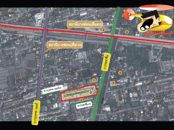 แผนที่ตั้งโครงการและสถานที่รอบๆคอนโด Supalai Veranda ศุภาลัย เวอเรนด้า รัชวิภา-ประชาชื่น
