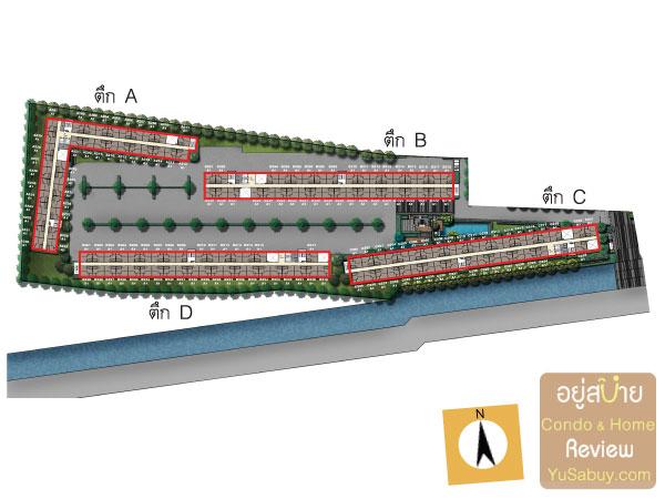 ผังโครงการ Plum Condo Bangyai Station (พลัมคอนโด บางใหญ่สเตชั่น) เฟส 1