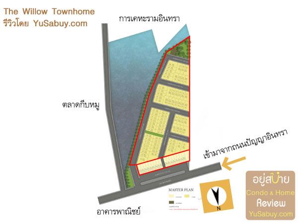 ผังโครงการ The Willow Townhome