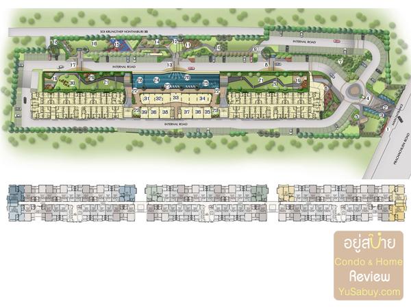ผังโครงการคอนโดศุภาลัย เวอเรนด้า รัชวิภา-ประชาชื่น (Supalai Veranda)
