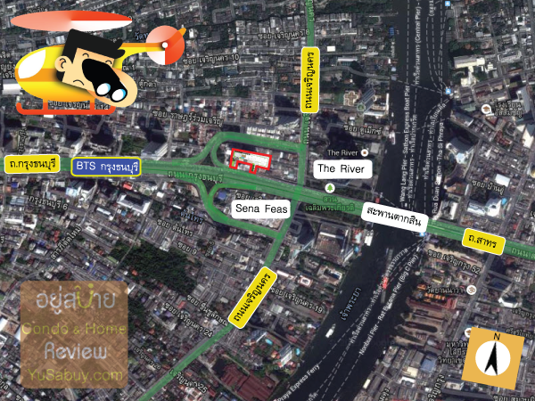 แผนที่และสถานที่รอบๆคอนโด Urbano Absolute สาทร-ตากสิน