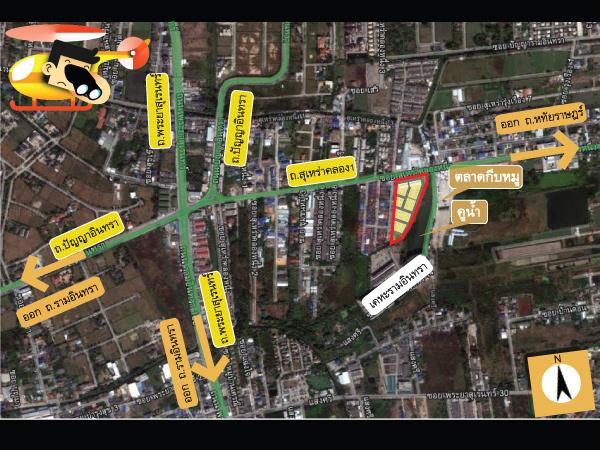 แผนที่และตำแหน่งสภาพแวดล้อมรอบๆโครงการ The Willow Townhome