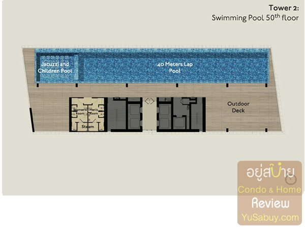 Floor Plan คอนโด Park24 Tower2 ชั้น 50