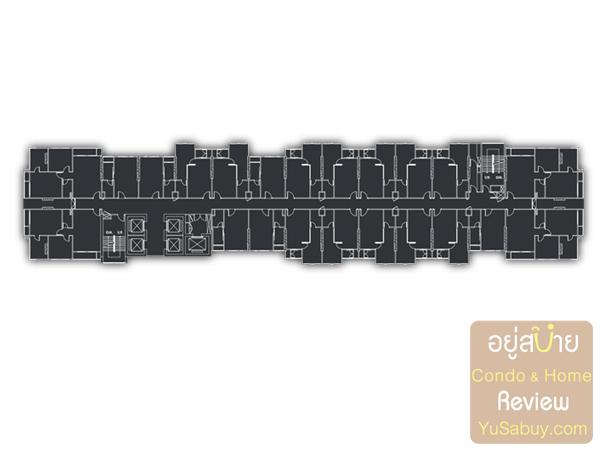 Floor Plan โครงการ Urbano Absolute สาทร-ตากสิน ชั้น 10-35