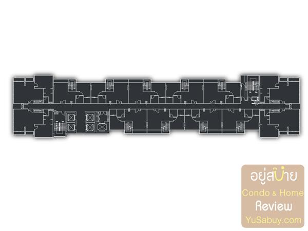 Floor Plan โครงการ Urbano Absolute สาทร-ตากสิน ชั้น 36-39