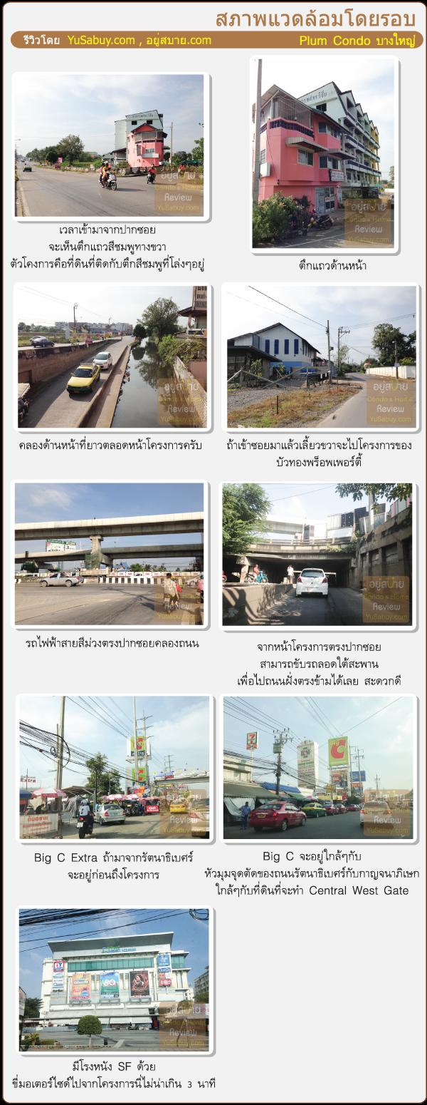 รูปถ่ายสภาพแวดล้อมรอบ Plum Condo Bangyai Station (พลัมคอนโด บางใหญ่สเตชั่น)