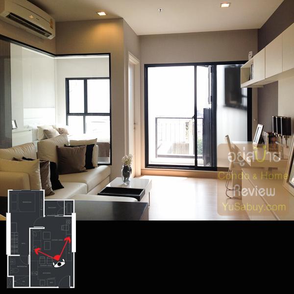 เข้าห้องมากันเลยครับ สเปซระหว่างห้องพักผ่อนกับห้องนอนนั้นมีกระจกใสกั้นช่วยให้ดูโปร่งทีเดียว