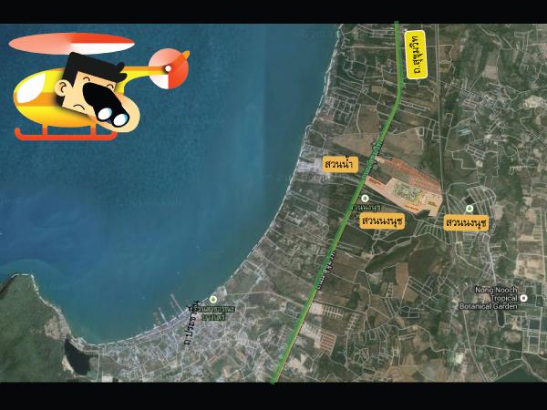 แผนที่และสถานที่รอบๆโครงการบ้านเดี่ยว Nusa Chivani (ณุศา ชีวานี่ พัทยา)