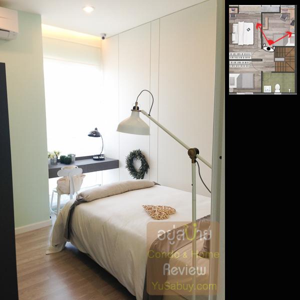 ห้องนอนเล็กจะมีทั้งด้านหน้าและด้านหลังครับ ในรูปห้องนี้เป็นด้านหน้า