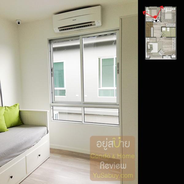 ห้องนอนเล็กอีกห้องด้านหลังวาง Sofa bed ให้ดู