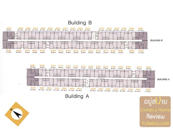 Typical Floor Plan คอนโด Ease พระราม2
